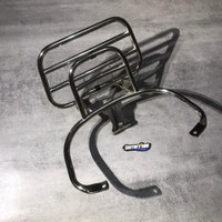 Backrack Vespa Lokal Chrome - TANPA BANTALAN