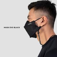 Terrel evo mask black masker kain non medis 3d strap konektor