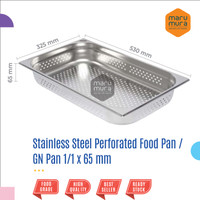 Food Pan / GN Pan 1/1 x 65mm (PERFORATED) / Stainless Steel