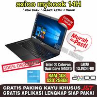 LAPTOP Axioo Mybook 14 H INTEL N4020 RAM 4GB-SSD256 GB-LAYAR 13FHD ORI - WIN NON ORI