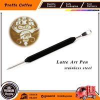 Latte art pen stainless steel , latte pen, latte art stick, coffee art