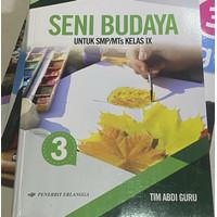 Buku Seni Budaya Kelas 9 Erlangga ( bekas )