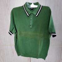 Baju Polo Shirt Pria Hugo Boss Size XL Green