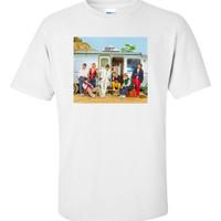 baju kaos bts army shirt - Putih, S
