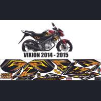 STRIPING VIXION FZ150i variasi custom gold vixion 2014-2015 striping