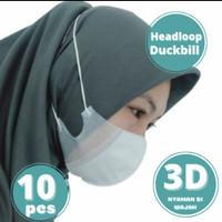 Masker 3 Ply 3Ply Duckbill 3D Headloop Orlee Premium Hijab Kemenkes