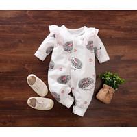 Jumper bayi motif landak perempuan 0-18 bulan / jumper panjang