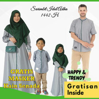 Sarimbit Keluarga Couple Baju Muslim Gamis Koko Kemko Terbaru Unik Abu