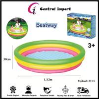 Bestway Kolam Renang Anak Pelangi-Kolam Anak 1,52x30cm - Bestway 51103