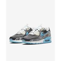 Sepatu Nike Air Max 90 NS SE Woman Black White Beach Blue Original