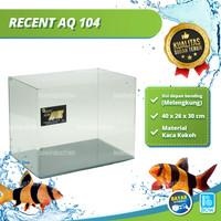 Aquarium Aquascape Akuarium Kaca Bending Tank RECENT AQ 104 40 Cm