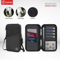 COPPER Pasport Travel Pouch / Tas Travel Pouch Multifungsi Waterproof