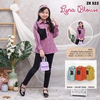 ( 7 - 14 Tahun ) Baju Atasan / Blouse Anak Perempuan Tanggung ZR 523