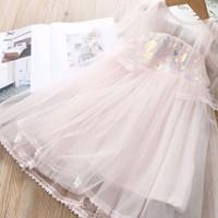 dress anak, baju ulang tahun, baju pesta, korean style, dress blink2 - Pink, 160 (7-8T)