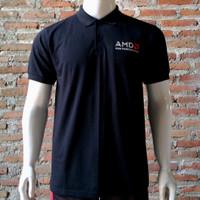 Polo Shirt AMD Ryzen Hitam (PL-AMD002)