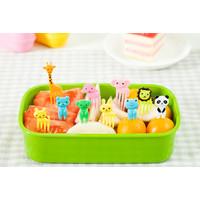 ANIMAL Garpu Tusuk Tusukan Buah Makanan Bento Fruit Fork Food Pick Set
