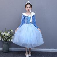 Baju Dress Kostum Anak Princess Elsa Frozen Olaf Adventure