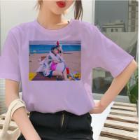 Baju Kaos Atasan Tshirt RM BTS BT21 Wanita Perempuan Cewek Oversize