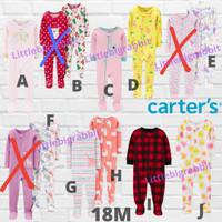 Sleepsuit Carters - Piyama Anak Cowok Cewek Branded - Baju Tidur 18M