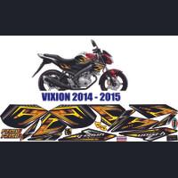 STRIPING MOTOR VIXION FZ150i variasi custom gold vixion 2014-2015
