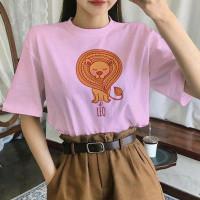Kaos Wanita Zodiak Leo Baju Atasan Cewek Remaja T-shirt Kekinian