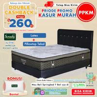 Serenity Set Kasur Spring Bed Impressa Pocket Latex 180x200