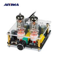 Aiyima Preamplifier Mini HiFi Stereo Preamp 2x6J3 Tubes - B2D2445 - Hitam