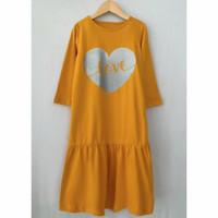 baju gamis anak perempuan kaos lala - Kunyit, 2