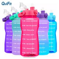 Original QuiFit 2L Bottle Tritan Botol Air Minum Dgn Kata² Motifasi - Merah Muda
