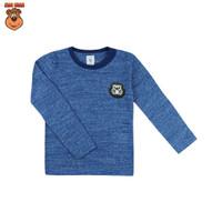 MacBear Baju Anak Laki-laki Kaos Lengan Panjang Animal Small Insect - Biru, SIZE 4