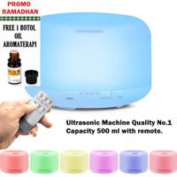 Ultrasonic Aroma Diffuser Humidifier Colorful LED-500ML Pelembab+Harum