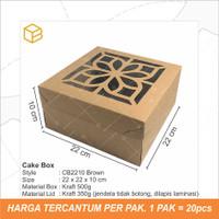 Kotak Kue Cake Box Packaging Dus Jendela | CB2210