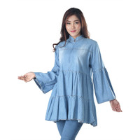 Baju Atasan Wanita / Blouse Denim Atasan Wanita - INF 338 - M