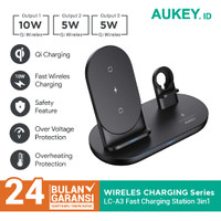 Aukey LC-A3 3-in-1 Wireless Charging Station - 500594