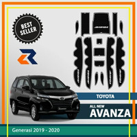Aksesoris mobil Door Groove Mat Toyota New Avanza/Interior mobil - Putih