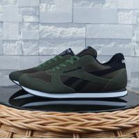 Sepatu Sneakers Casual Pria RBK Grade Original Lari Hijau Green Army