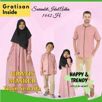 Sarimbit Keluarga Couple Baju Muslim Gamis Koko Kemko Terbaru Pink - Gamis, 2