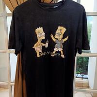 The Simpson Vintage Black Ripped T-shirt not Bape Offwhite FOG