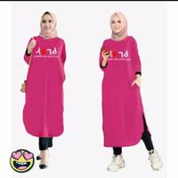 Baju Atasan Tunik Muslim Wanita Motif Play Lucu TERMURAH TERLARIS 0714 - fanta, XL