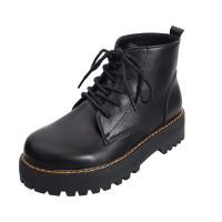 Sepatu bot Martin baru untuk wanita sepatu bot pergelangan kaki mid-tu - Hitam, 36