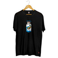 Infinide T-Shirt TAKE A BEACH Cotton Combed Premium Brand Official - Hitam, S