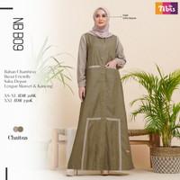 Gamis Nibras Dress Baju Muslim Wanita Dewasa Terbaru NB B09