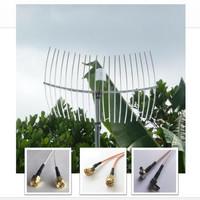 Antena Grid Dual Pigtail 20M Penguat Sinyal Internet Modem 4G