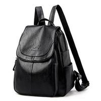 Tas Ransel Import Backpack Wanita Punggung Sekolah Kuliah Kerja 115 - Hitam kangoro