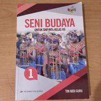 Buku seni budaya kelas 7 Erlangga 2013 ( Baru )