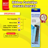 Epson S015632 S015639 Ribbon Cartridge Printer LX310 LQ310 LX-310