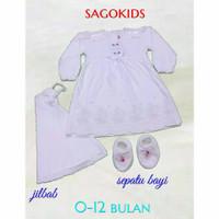 baju gamis bayi perempuan Akikah 0-6 bulan