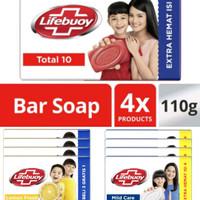 sabun lifebuoy batang 110gr total 10 (1 pack = 4 batang)