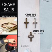 Charm Salib Bandul Salib Pendant Liontin Mainan Kalung Gelang Anting A