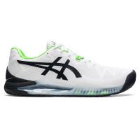 Sepatu Tennis Tenis Asics Gel Resolution 8 White Green Original
